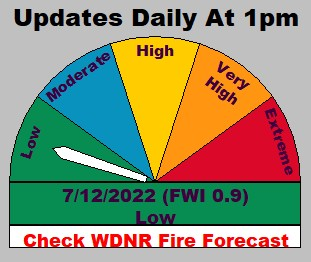 Waupaca Fire Level